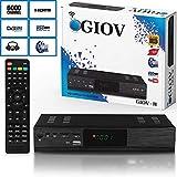 Giov H Digital Satelliten Sat Receiver - (HDTV - DVB-S/S2, HDMI, SCART, 2X USB 2.0, Full HD 1080p) [Vorprogrammiert für Astra Hotbird Türksat]