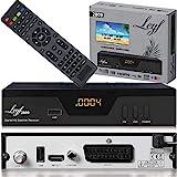 Leyf 2809 Digital Satelliten Sat Receiver - (HDTV, DVB-S/S2, HDMI, SCART, 2X USB 2.0, Full HD 1080p) [Vorprogrammiert für Astra Hotbird Türksat] [Energieklasse A+++]