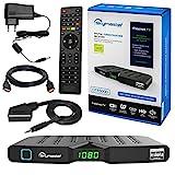 HB DIGITAL DVB-T/T2 SET: Skymaster DTR5000 DVB-T/T2 Receiver, kartenloses Irdeto-Zugangssystem für freenet TV + HDMI Kabel mit vergoldeten Anschlüssen (Full HD HEVC/H.265 HDTV HDMI USB DVB-T2)