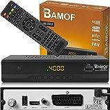 Bamof BE-2607 Digital Satelliten Sat Receiver - ( HDTV , DVB-S/S2 , HDMI , SCART , 2X USB 2.0 , Full HD 1080p) [Vorprogrammiert für Astra Hotbird Türksat] [Energieklasse A+++]