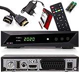 Opticum SBOX HDTV Sat-Receiver, Mediaplayer, 1080P Full-HD Digital Mini TV-Receiver für Satelliten, HDMI, SCART, UNICABLE, COAXIAL, USB 2.0, DVB-S DVB-S2 12-Volt Anschluß, mit Anadol HDMI Kabel