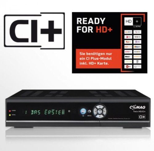 COMAG TWIN HD/CI+ digitaler Satelliten Receiver Twin-Tuner HDTV mit 500 GB Festplatte